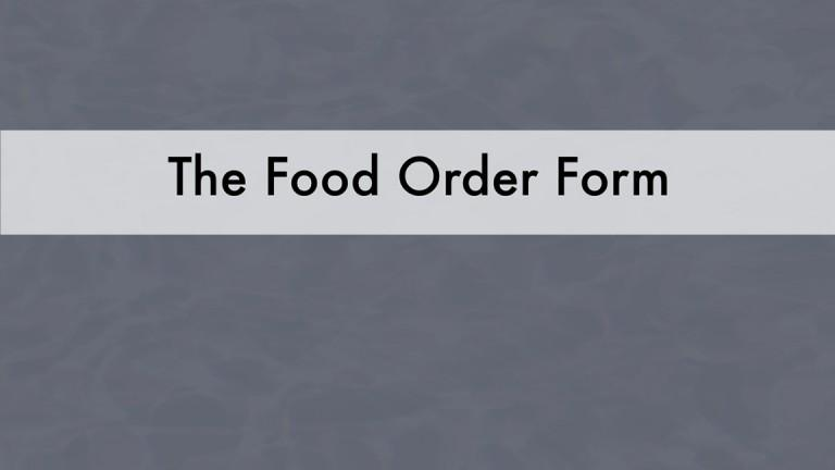 Order for Food and Supplies Overview